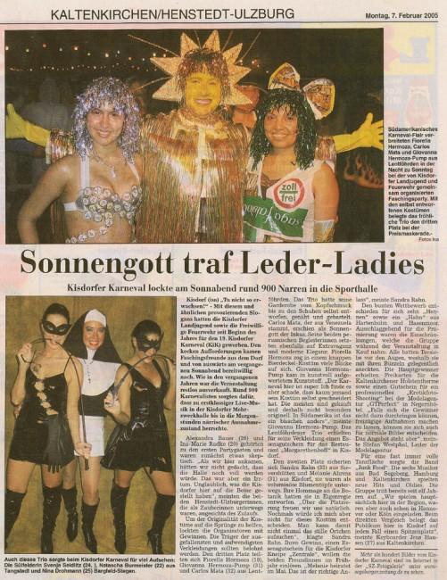 Zeitung SZ 07-02-2005